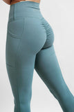 Twotags Ladies Highwaisted Scrunch Leggings – Teal