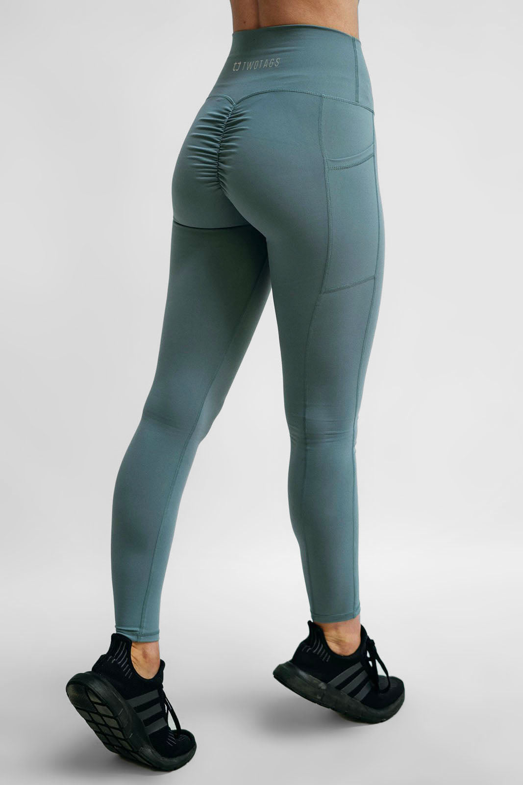 69eefe83ae404 Scrunch Highwaisted Leggings - Teal – Twotags
