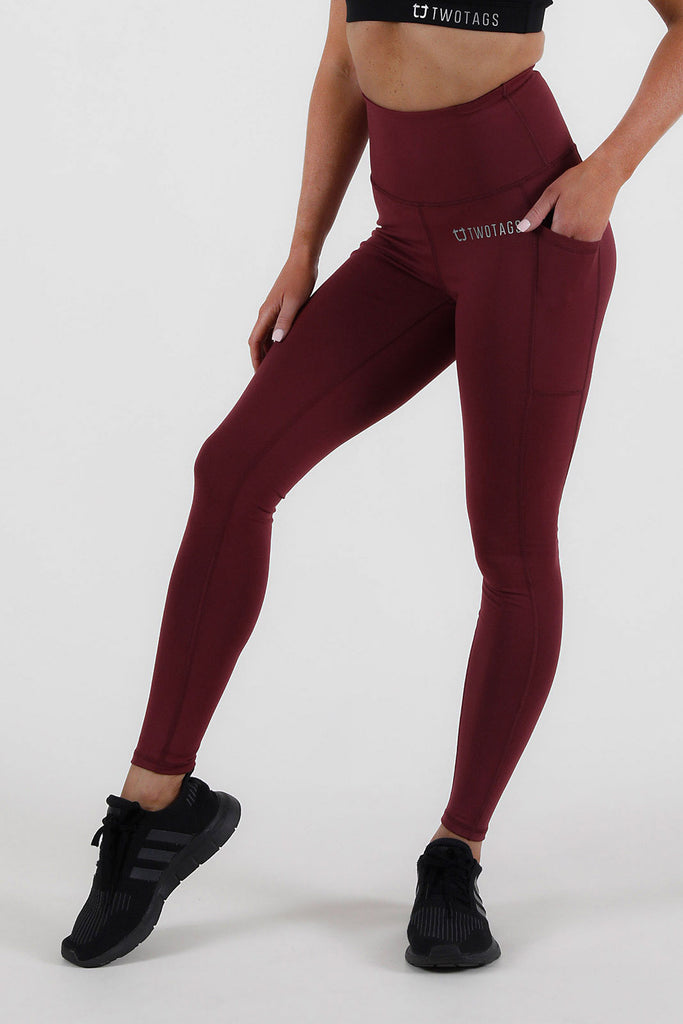 Scrunch V2 Highwaisted Leggings - Burgundy