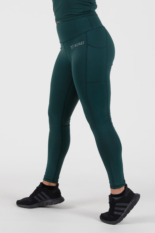 Scrunch V2 Highwaisted Leggings - Emerald