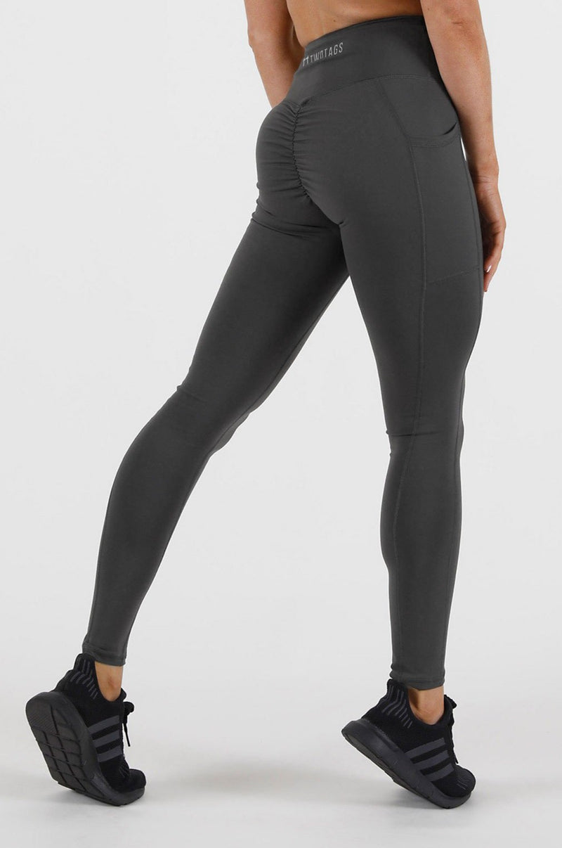 Scrunch V2 Highwaisted Leggings - Slate Grey