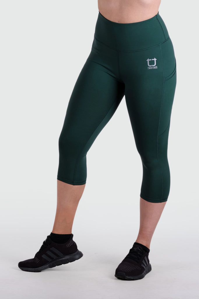 Strappy 3/4 V2 Highwaisted Leggings - Emerald