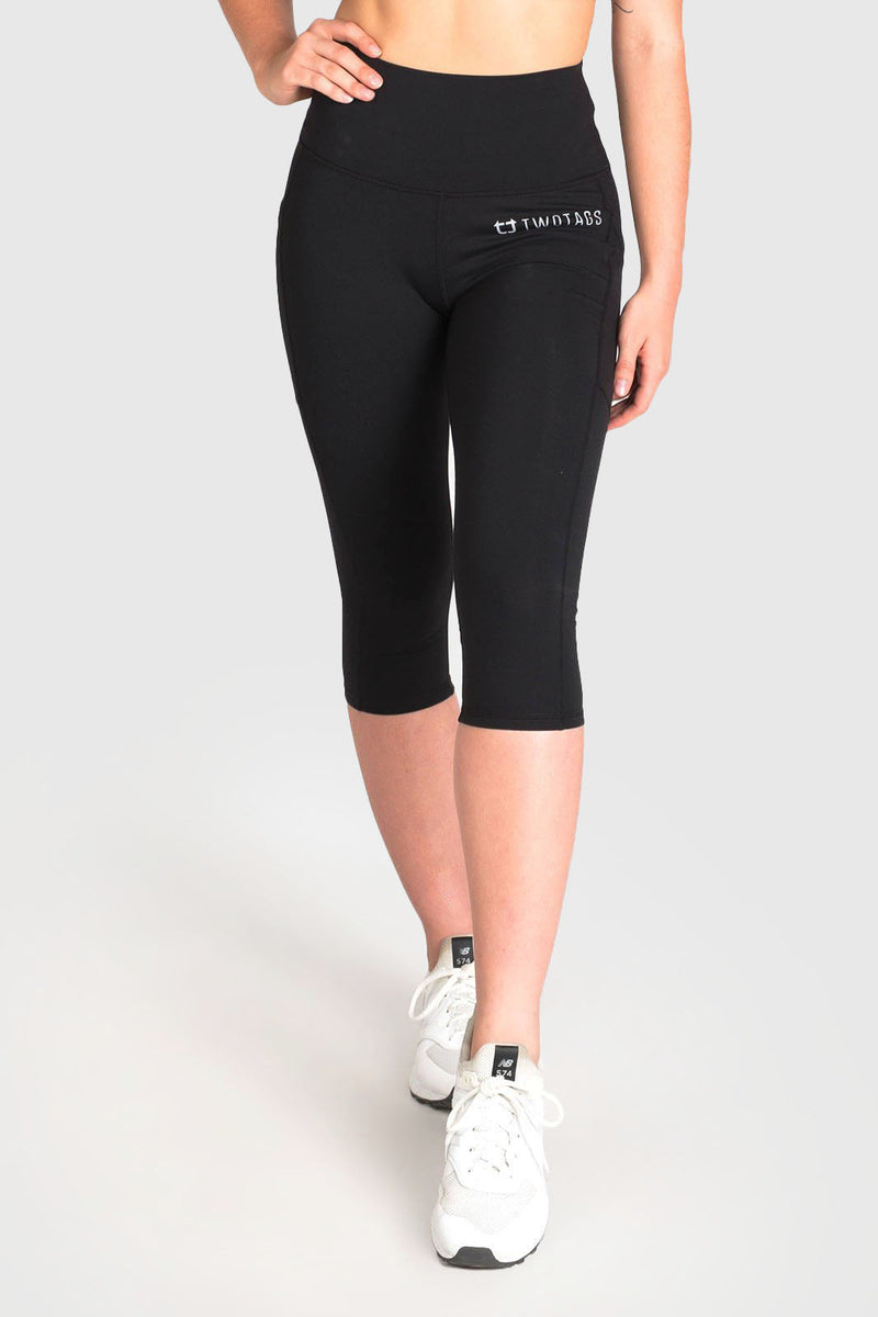 Strappy 3/4 Highwaisted Leggings - Black