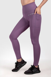 Twotags Ladies Highwaisted Strappy Leggings – Lavender