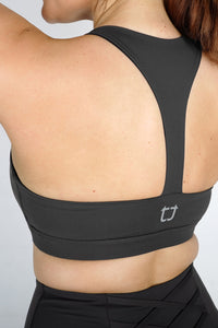 Strappy Sports Bra -Slate Grey