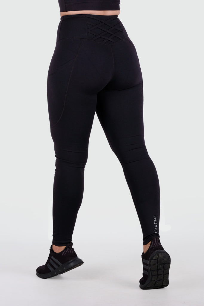Strappy V2 Highwaisted Leggings - Black