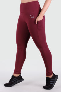 Strappy V2 Highwaisted Leggings - Burgundy
