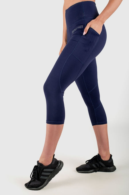 Sweetheart 7/8 Highwaisted Leggings - Ocean Blue