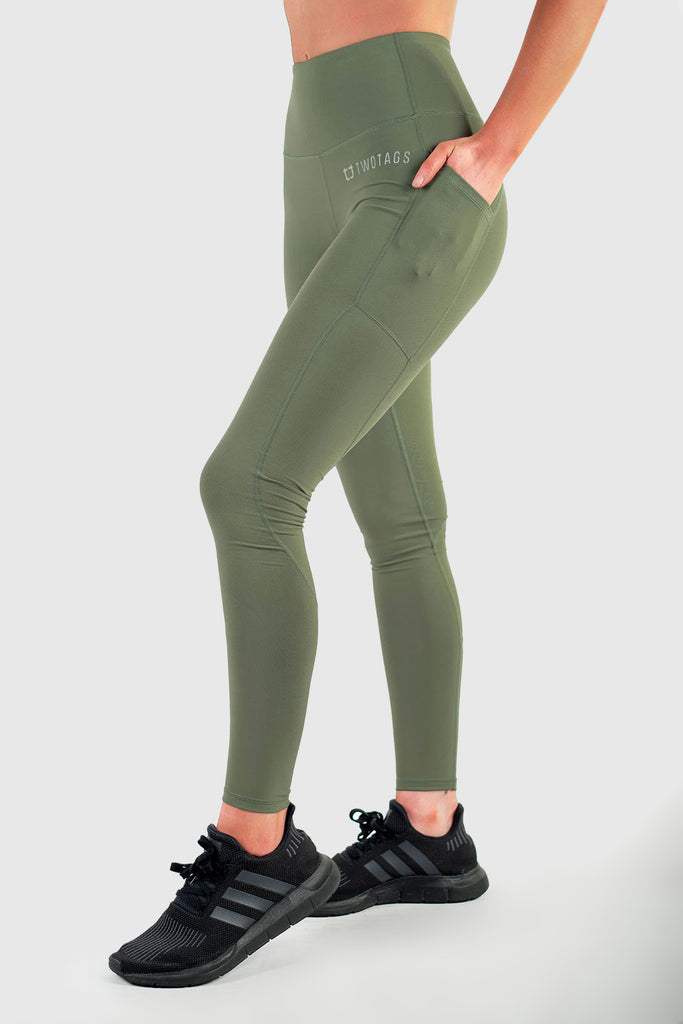 Sweetheart Highwaisted Leggings - Olive