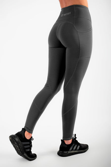 Twotags Ladies Highwaisted Sweetheart Leggings – Olive