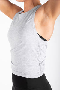 Twist Tank - Heather Grey
