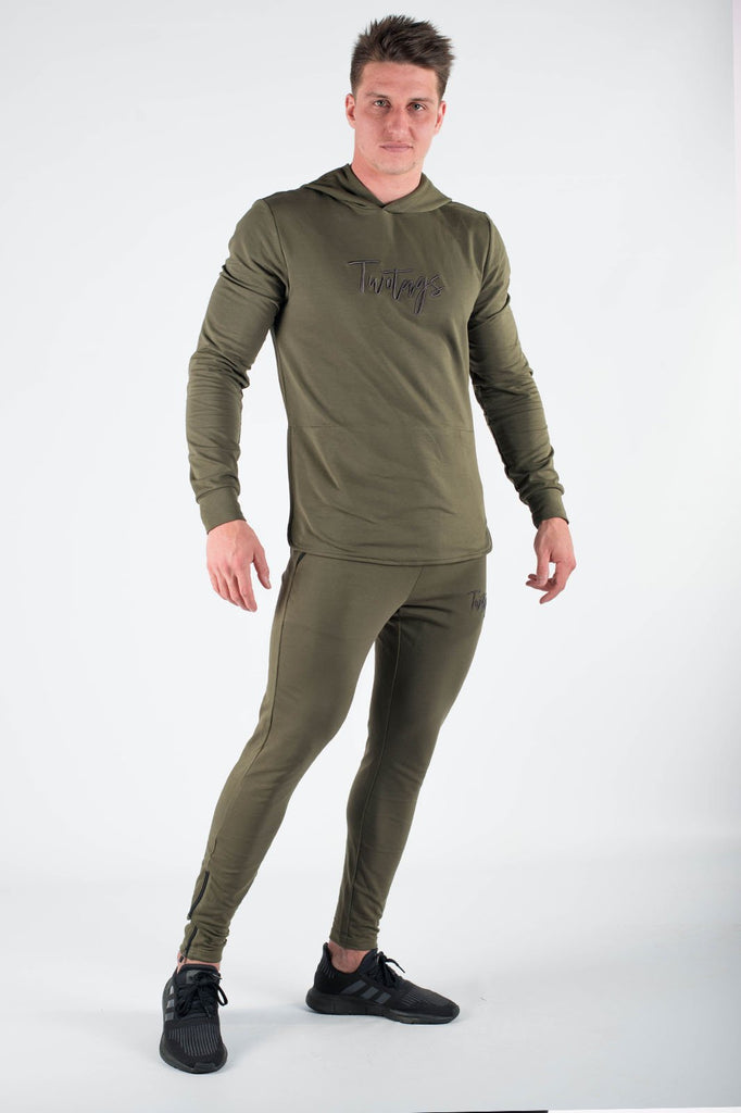 Twotags Verve Hoodie - Shadow Green