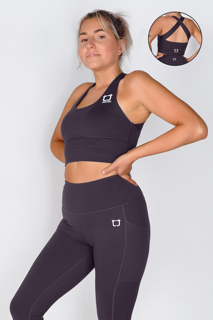 Vibe X Supportive Racerback Top - Plum