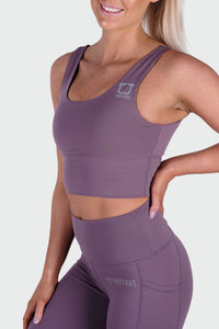 Vibe Supportive Cropped Tank - Lavender