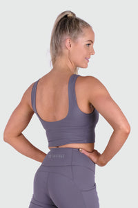 Vibe Supportive Cropped Tank - Periwinkle
