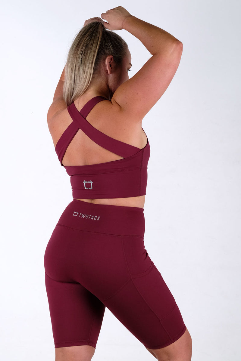 Vibe X Supportive Racerback Top - Burgundy