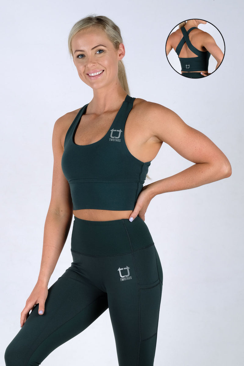 Vibe X Supportive Racerback Top - Emerald