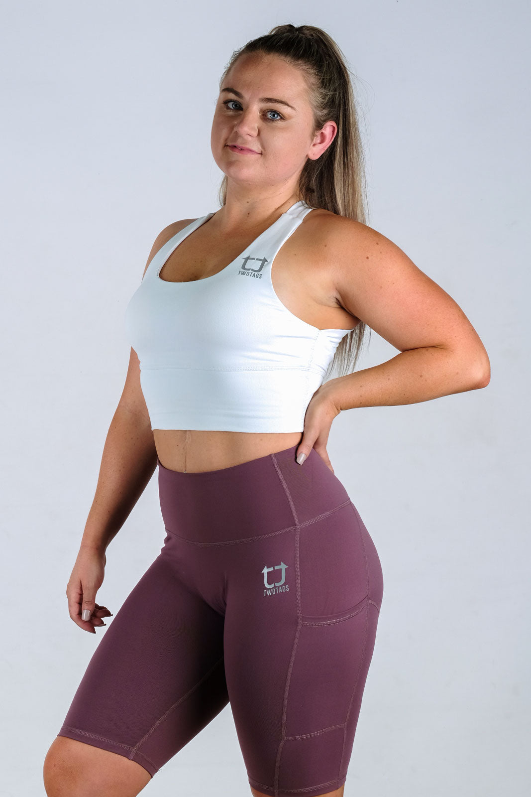 Vibe X Supportive Racerback Top - White