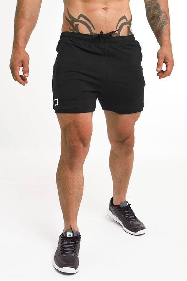 Twotags Hybrid Sweat Shorts - Black