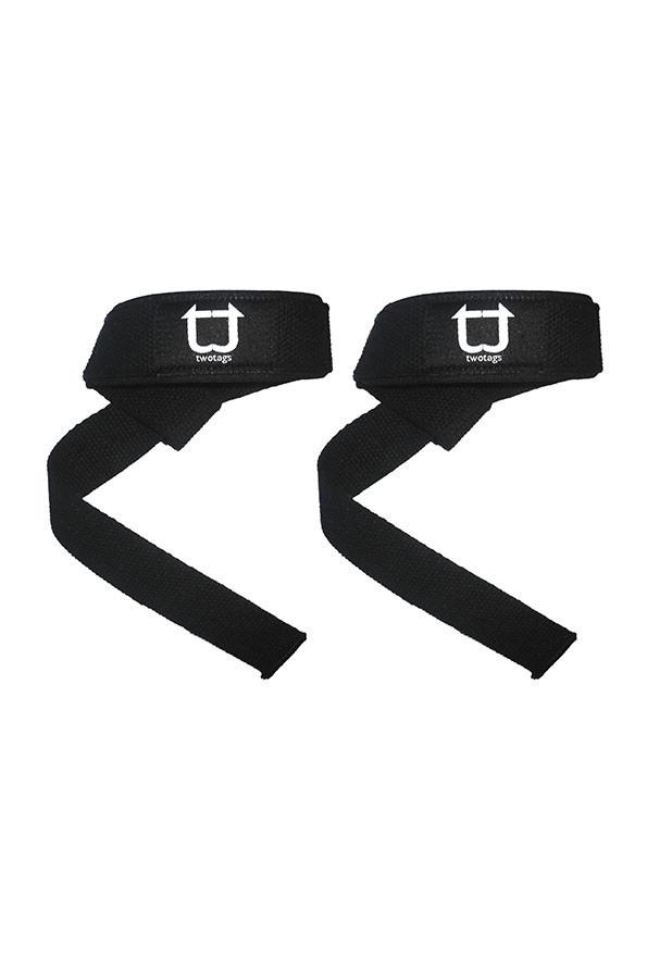 Twotags Weight Lifting Straps - Black