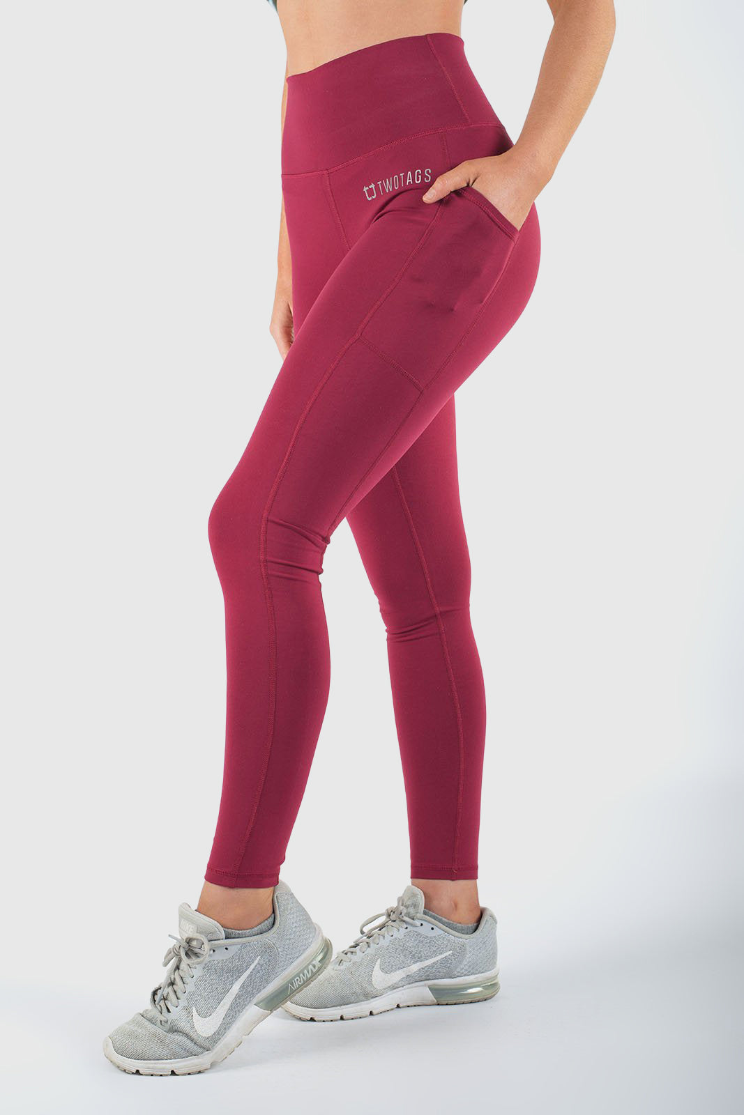 Twotags Ladies Highwaisted Core V2 Leggings – Cherry