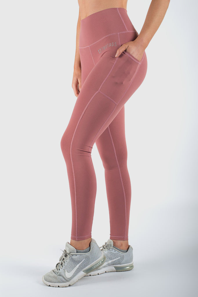 Twotags Ladies Highwaisted Core V2 Leggings – Grapefruit