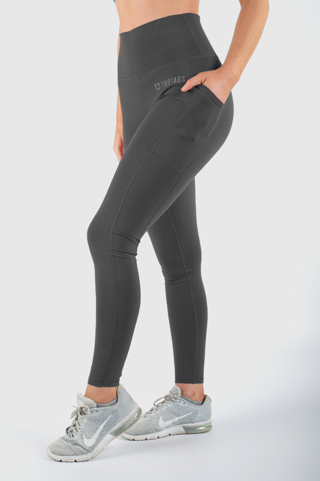 Twotags Ladies Highwaisted Core V2 Leggings – Slate Grey
