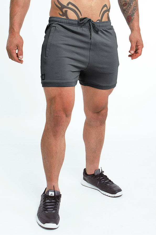 Twotags Hybrid Sweat Shorts - Charcoal Grey
