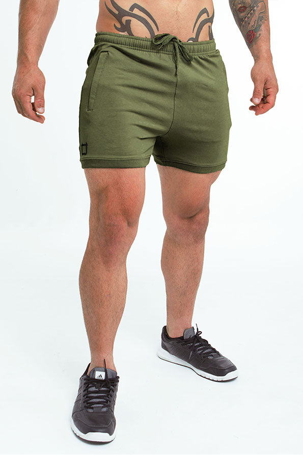 Twotags Hybrid Sweat Shorts - Khaki
