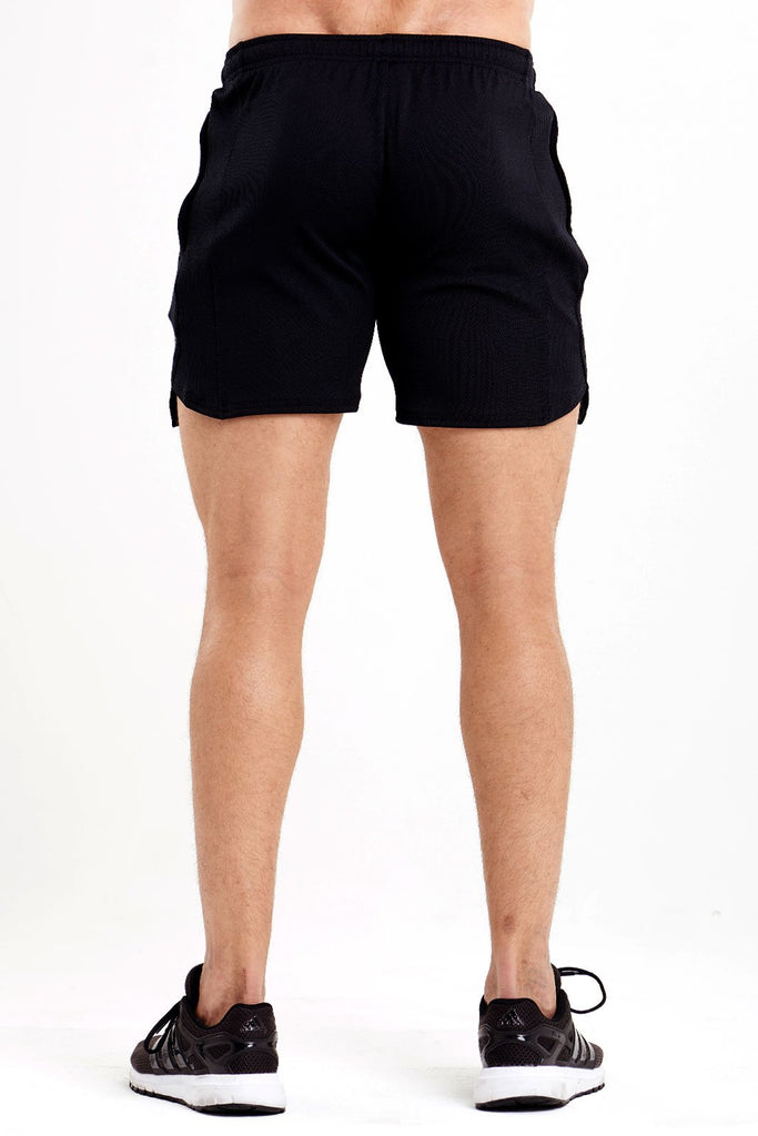 Twotags Mesh Wind Shorts - Black