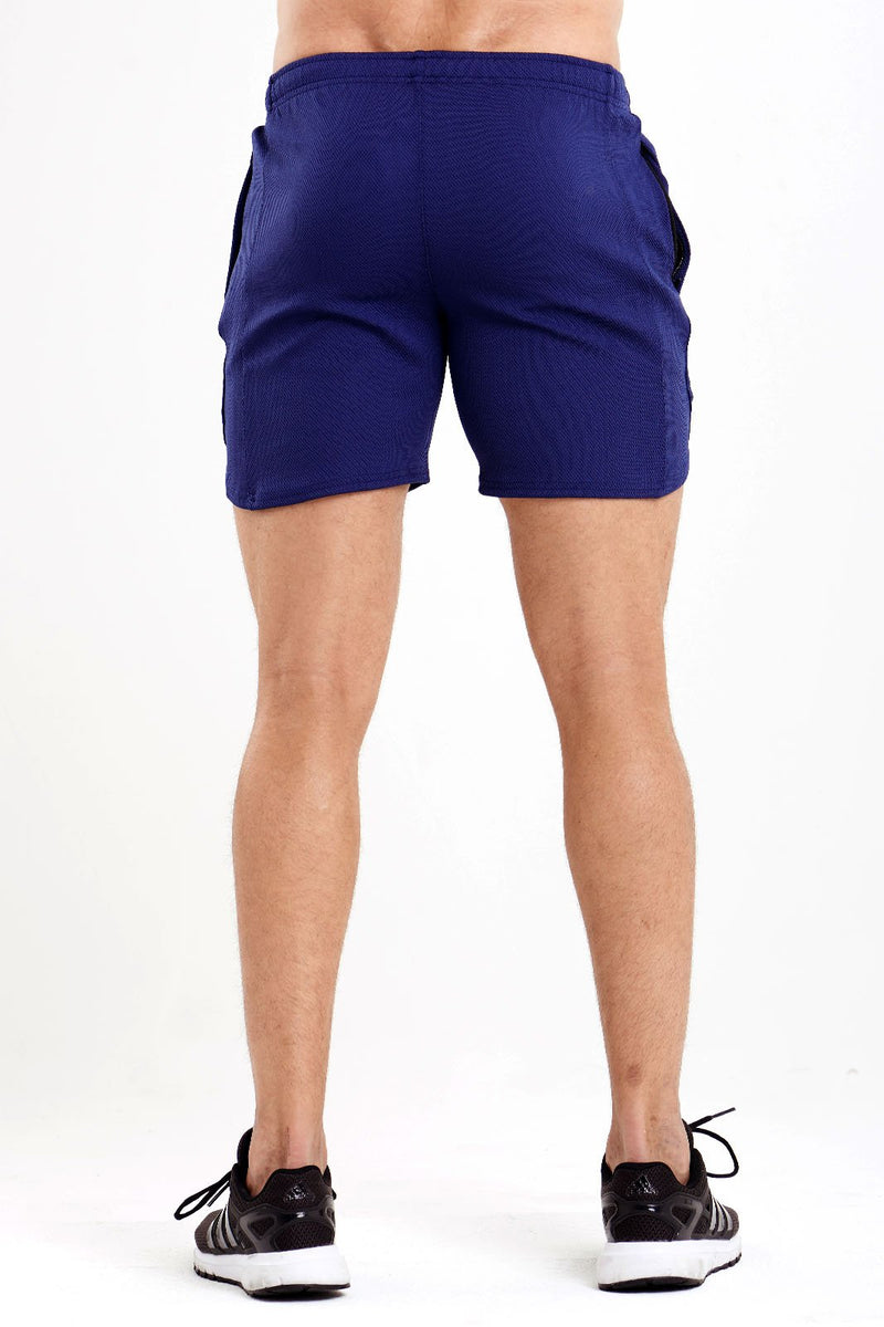Twotags Mesh Wind Shorts - Navy Blue