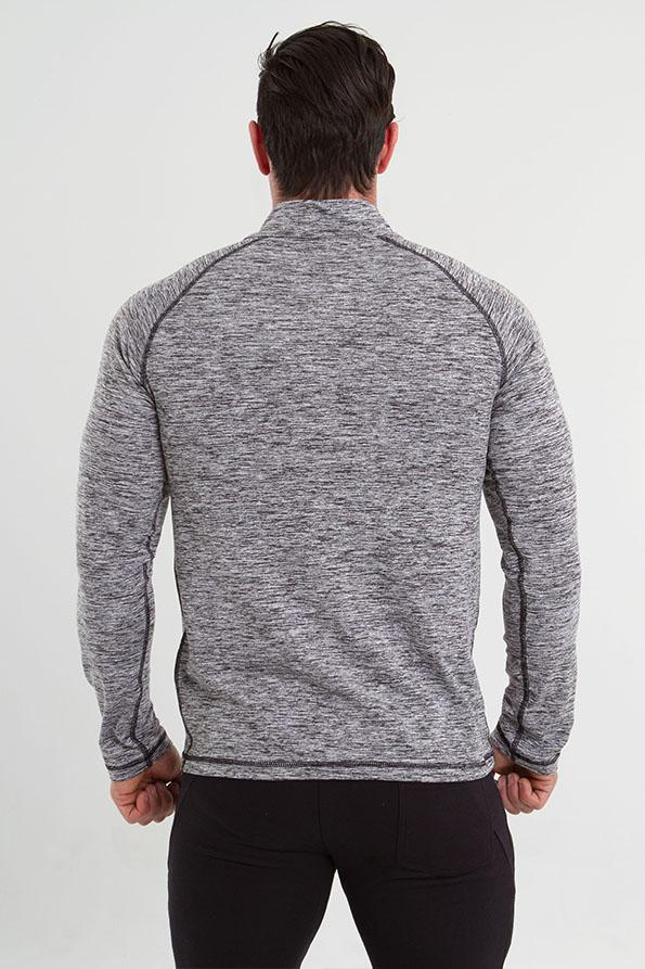 Twotags Phantom 1/4 Zip Pullover – Heather Charcoal