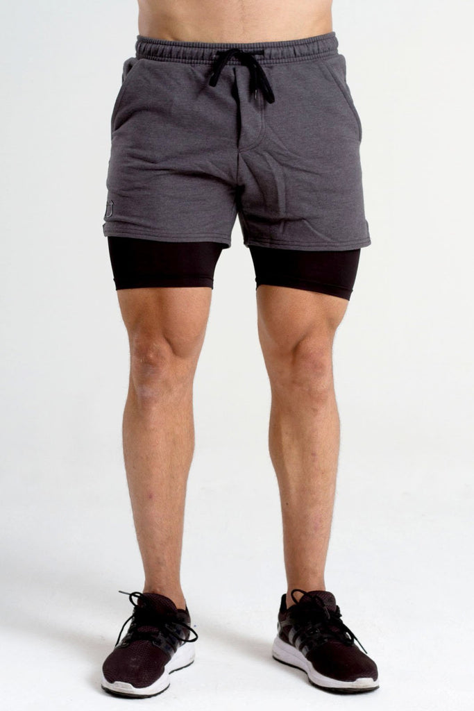 Twotags Performance Sweat Shorts - Smoke Grey
