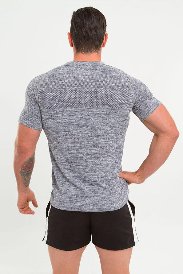 Twotags Seamless Perform Tech T-shirt - Heather Charcoal