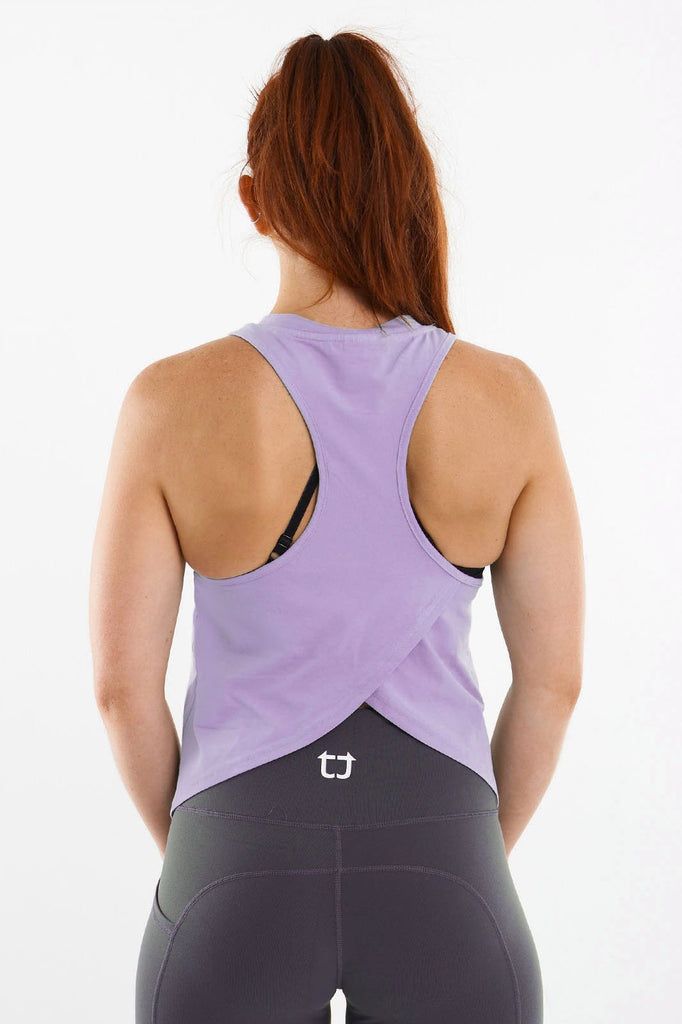 Twotags Ladies Swift Racerback Tank – Lilac