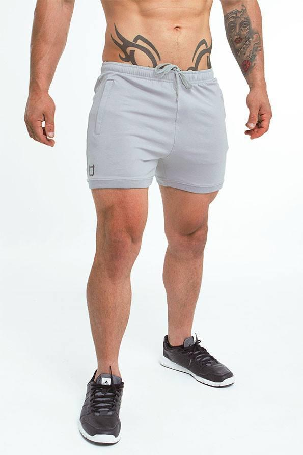 Twotags Hybrid Sweat Shorts - Tornado Grey