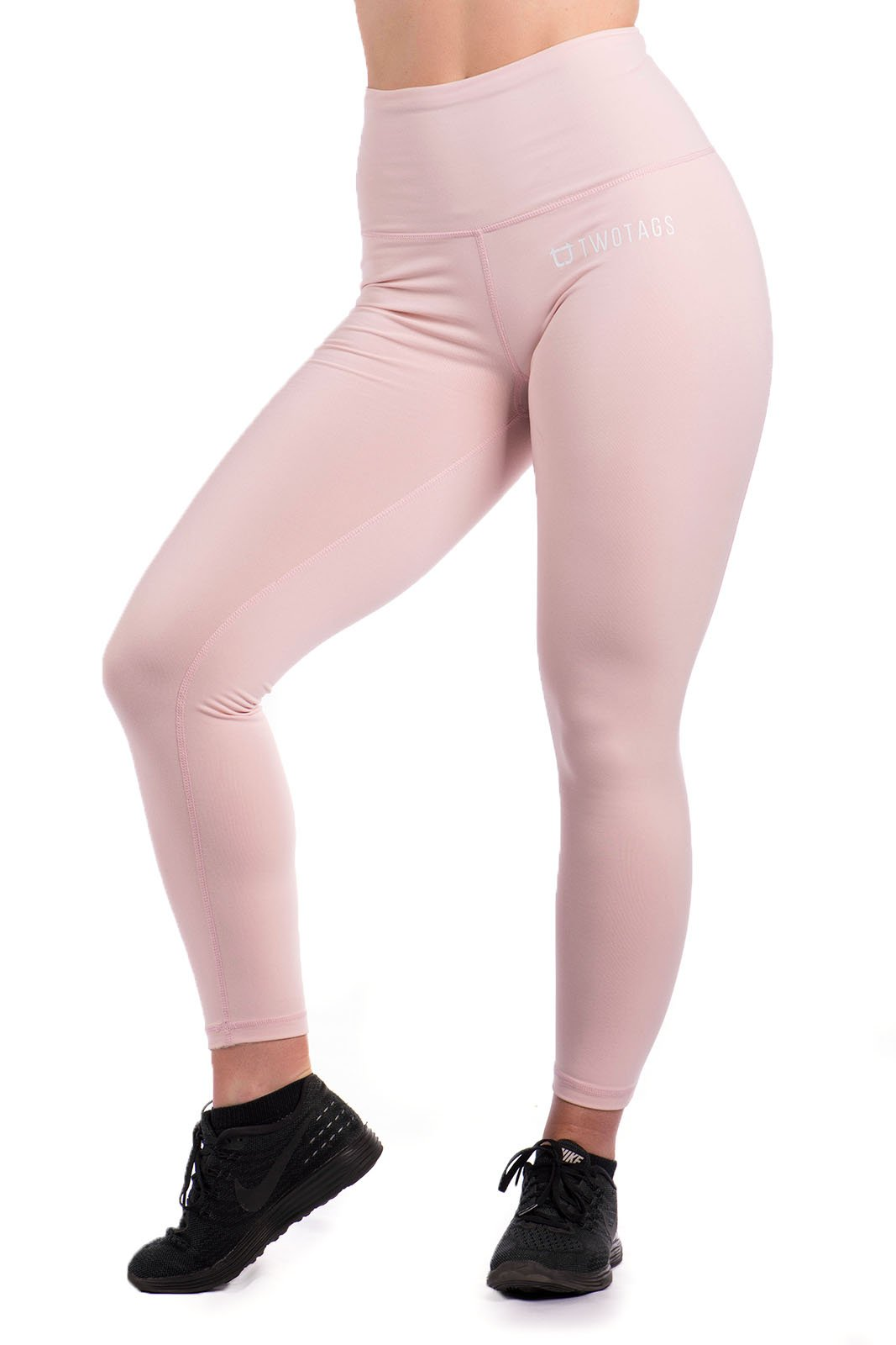 Twotags Ladies Highwaisted Ultimate Leggings – Baby Pink
