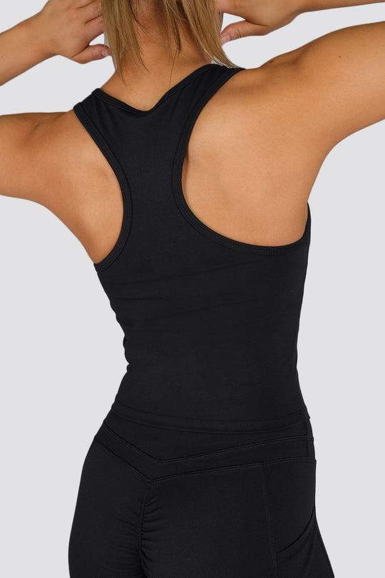 Soul Scrunch 2 in 1 Singlet - Black
