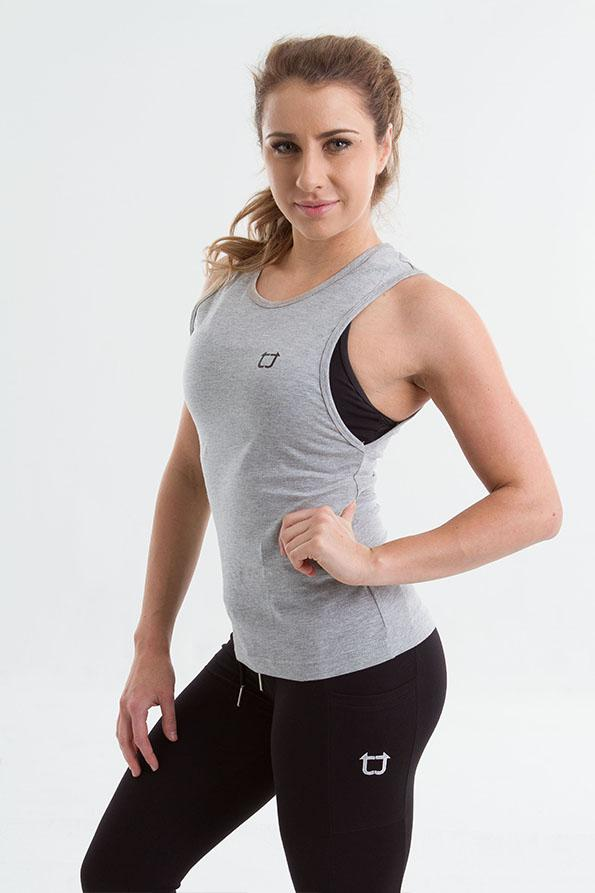 Twotags Ladies Workout Tank – Grey