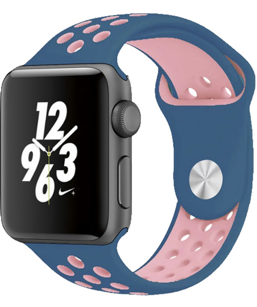 Blue/Pink Replacement Apple Watch Band for Series 1/2/3 Models
