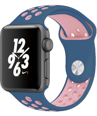 Apple Watch Band Series 1 Series 2,Soft Durable Nike + Sport Replacement Wrist Strap for iWatch(Blue/Pink)