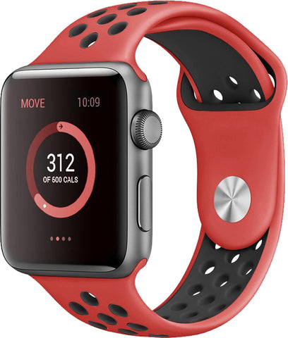 Apple Watch Band Series 1 Series 2,Soft Durable Nike + Sport Replacement Wrist Strap for iWatch(Red/Black)