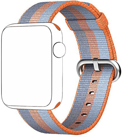 SELLERS360 Orange Nylon Replacement Band for Apple Watch Series 1/2/3