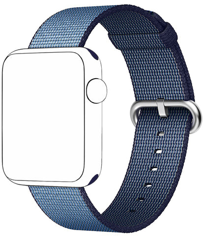 SELLERS360 Navy/Tahoe Blue Nylon Replacement Band for Apple iWatch