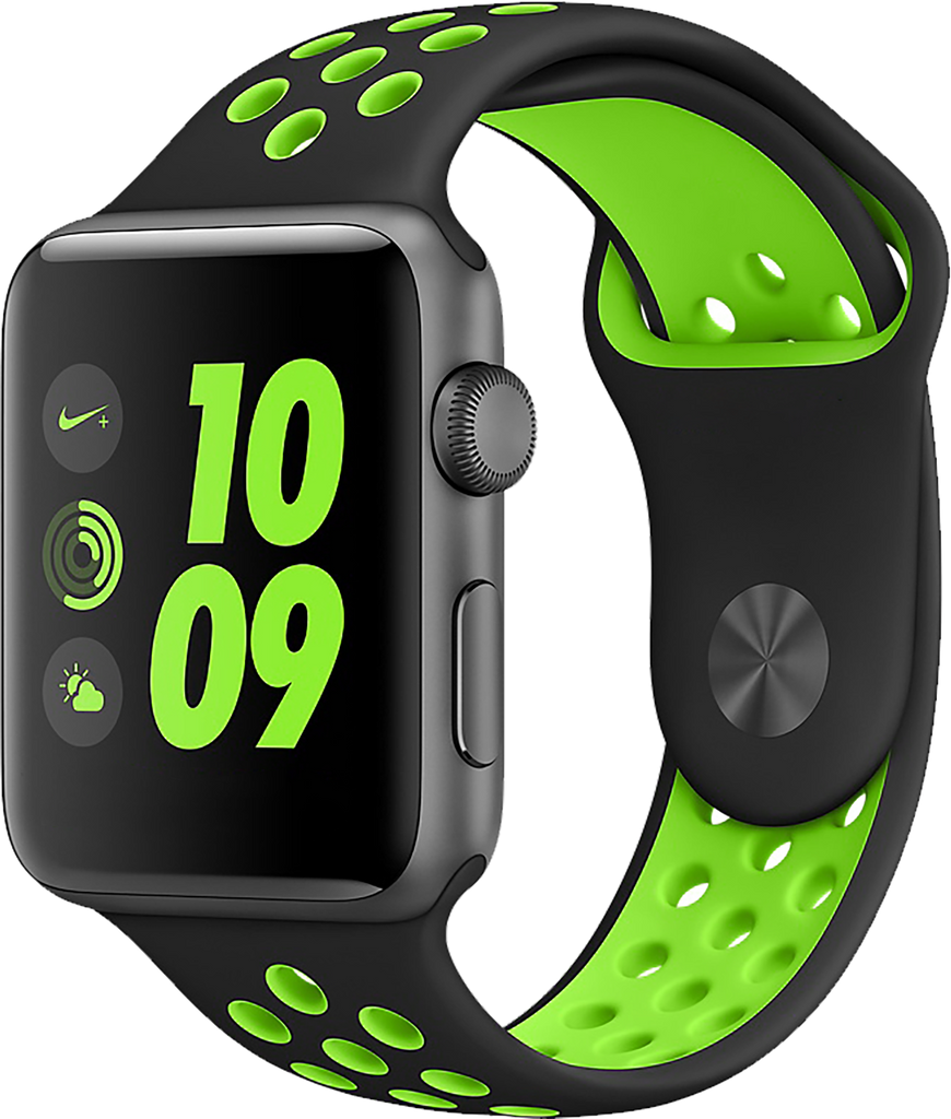 Black/Green Apple Watch Band for Series 1/2/3, 42mm and 38mm Models