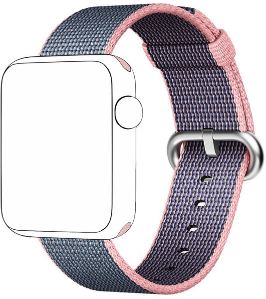 SELLERS360 Nylon Band for Apple Watch Series 1/2/3 Pink/Midnight Blue