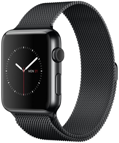 Black Replacement Band with Magnet Lock for Apple Watch Series 1/2/3