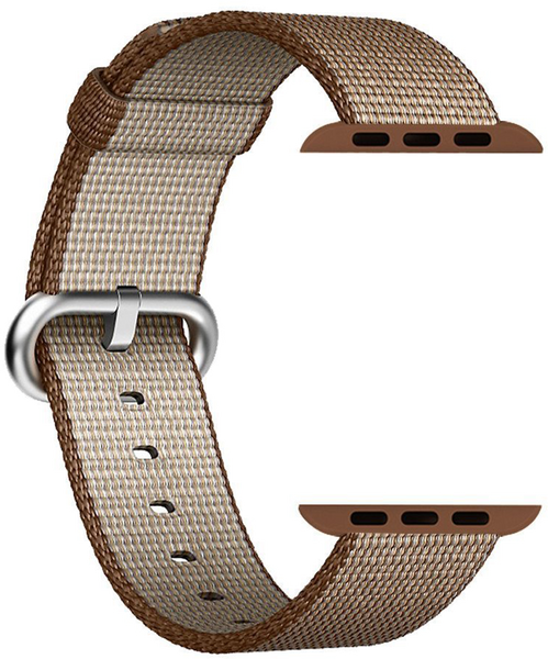 SELLERS360 Nylon Replacement Band for Apple iWatch (Toasted Coffee/Caramel)