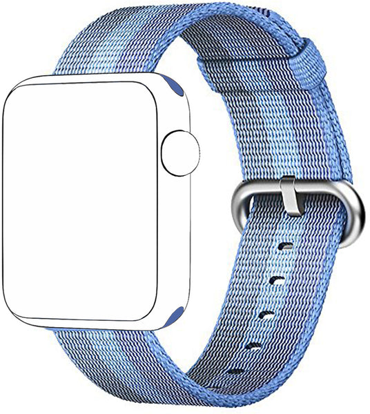 SELLERS360 New Nylon Watch Fine Woven Band Replacement Strap for Apple watch band Series 1 Series 2 iwatch (Tahoe Blue)