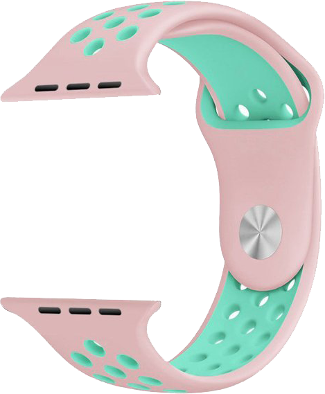 Pink/Mint Green Apple Watch Band for Series 1/2/3 Models